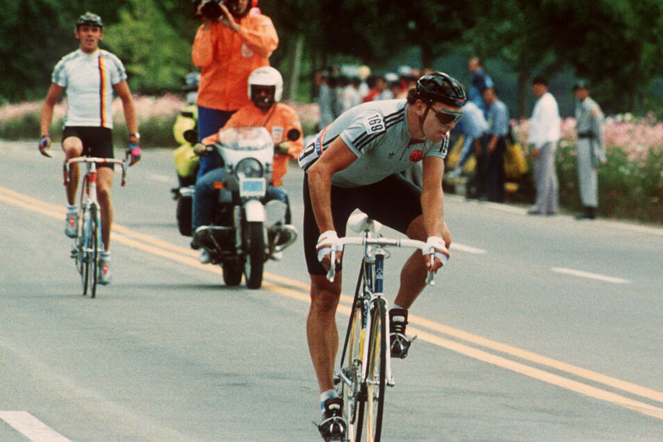 Sein größter Triumph: 1988 fährt Olaf Ludwig in Seoul zum Olympiasieg.