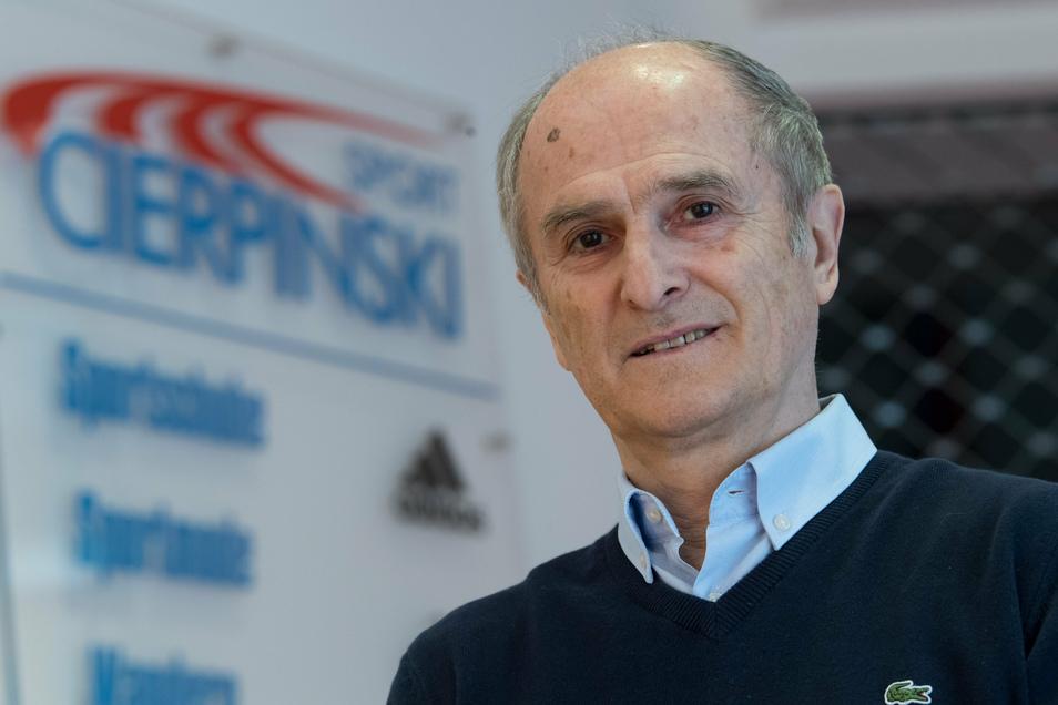Der Unternehmer: Waldemar Cierpinski betreibt mit seinem Sohn Falk ein Sportgeschäft in der City.