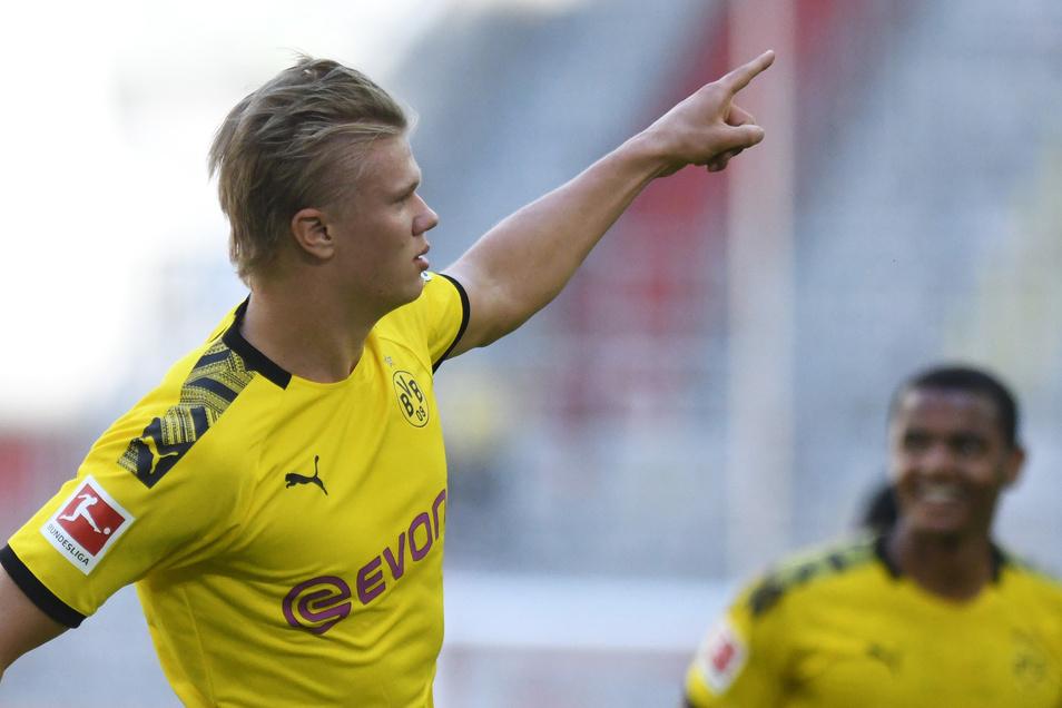 Mit Platz zwei nicht zufrieden: Dortmunds Erling Haaland.