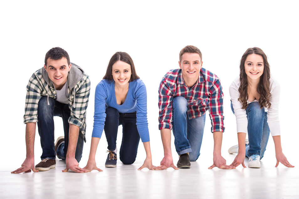 Durchstarten auch in eine akademische Zukunft - die Initiative Studienkompass will junge Leute dabei unterstützen.