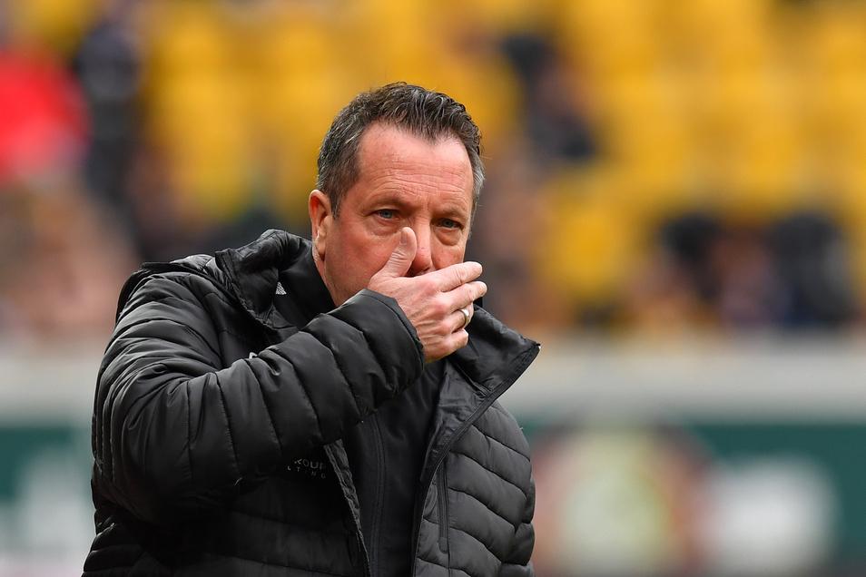 Dynamo-Trainer Markus Kauczinski nimmt im virtuellen Interview kein Blatt vor den Mund.