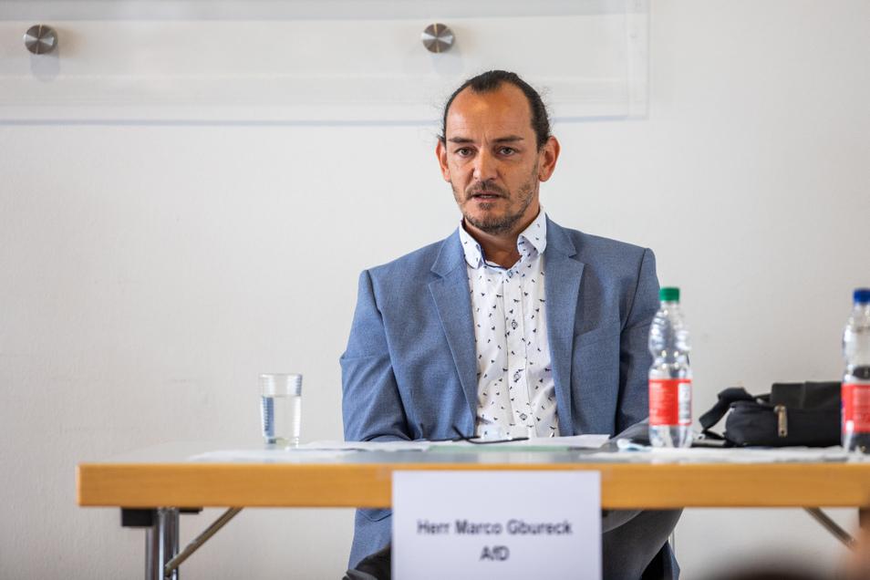 Marco Gbureck ist gelernter Bäcker und Orthopädietechniker. Er führte ein mittelständisches Unternehmen, zog zunächst für die CDU in den Stadtrat ein, bei der letzten Kommunalwahl für die AfD.