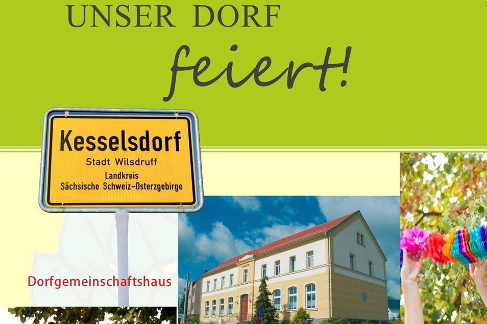 Mit einem Flyer hat sich der Verein 800 Jahre Kesselsdorf an die Bewohner im Ort gewandt.