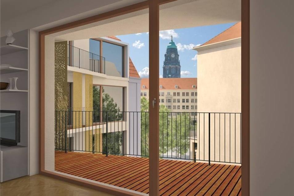 """Aus den Wohnungen im """"Frieseneck"""" bietet sich ein schöner Blick."""