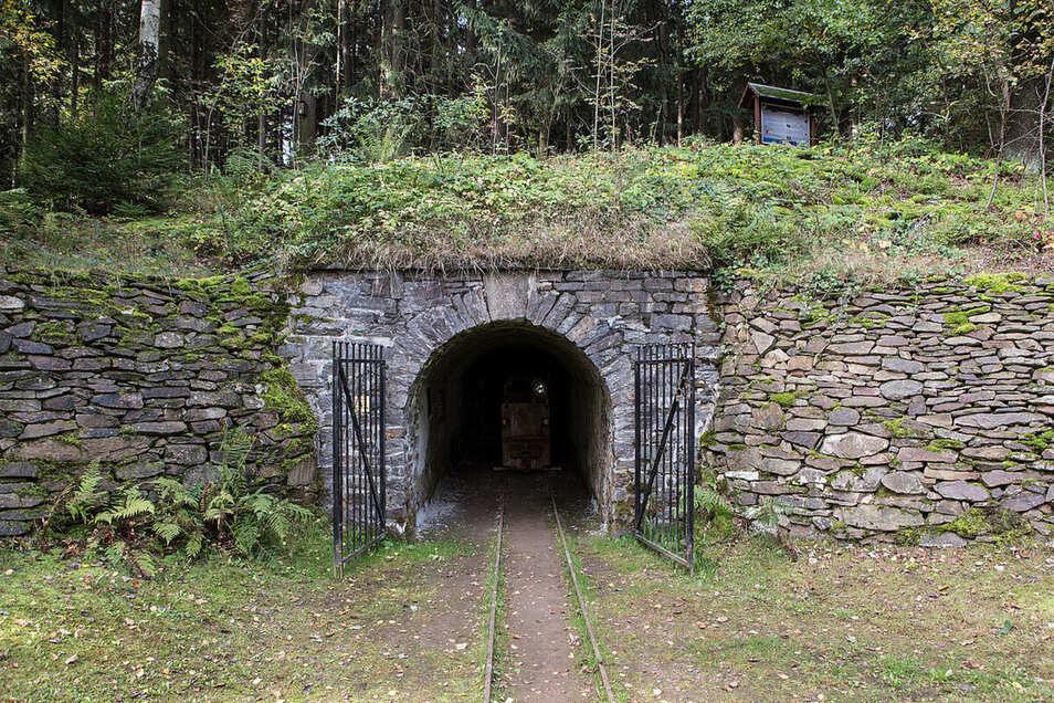 """5. Bergbaulandschaft Hoher Forst bei Kirchberg """"Mundloch Engländerstolln"""""""