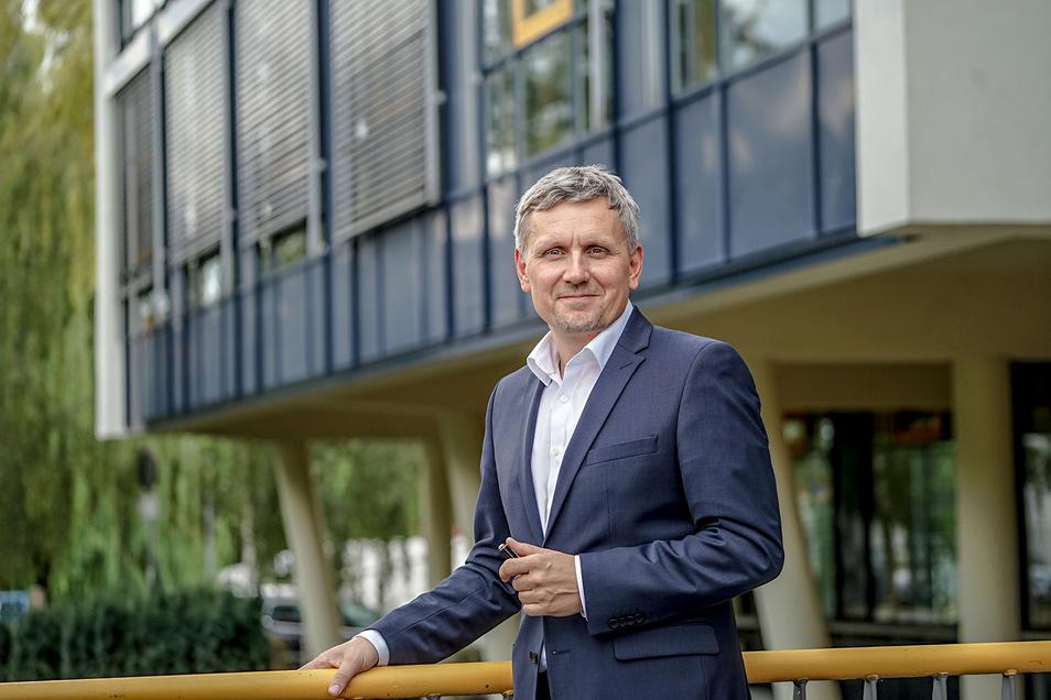 Michael Paduch führt seit 1. August die Geschäfte im Technologie- und Gründerzentrum Bautzen.
