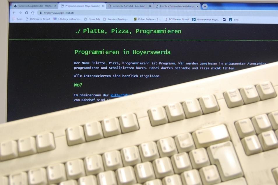 """Eingeladen wird zu """"Platte, Pizza, Programmieren""""."""