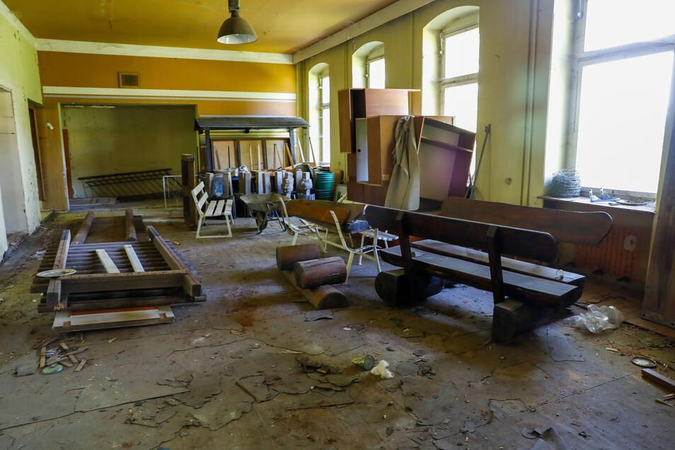 Und so sieht es in der ehemaligen Gaststätte heute aus.