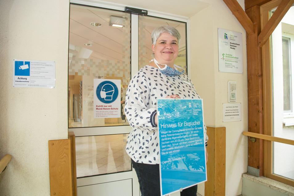 Susanne Dunger leitet im Nieskyer Emmaus-Krankenhaus den Pflegedienst.