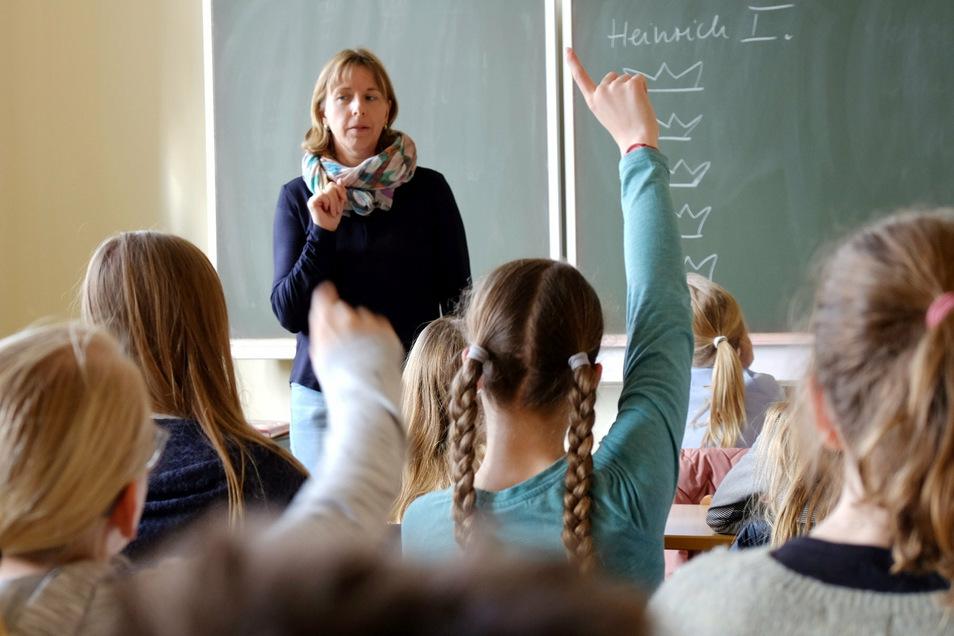 Nur noch wenige Tage bis zu den Schulferien – hier ein Blick in ein Klassenzimmer am Meißner Franziskaneum.