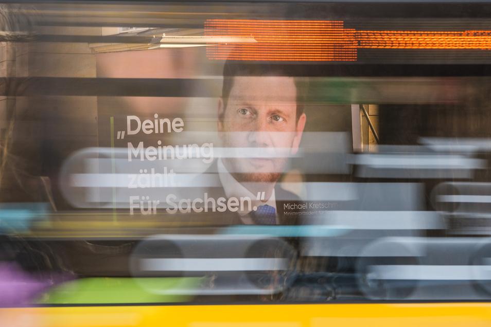 Er will regieren, aber mit wem? Ministerpräsident Michael Kretschmer (CDU) muss nach der Wahl im September voraussichtlich mit mehreren Parteien reden.