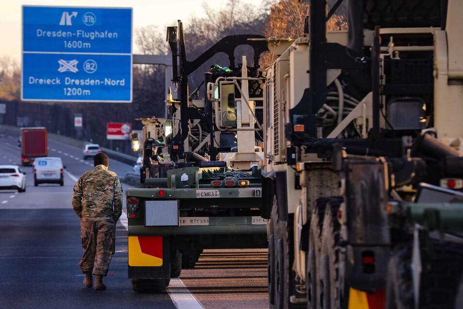 Am 12. Juni 2019 hatte ein US-Konvoi auf der A4 unweit von Dresden eine Panne. Erst am nächsten Vormittag kam Hilfe aus Polen und die Soldaten setzten ihre Reise fort