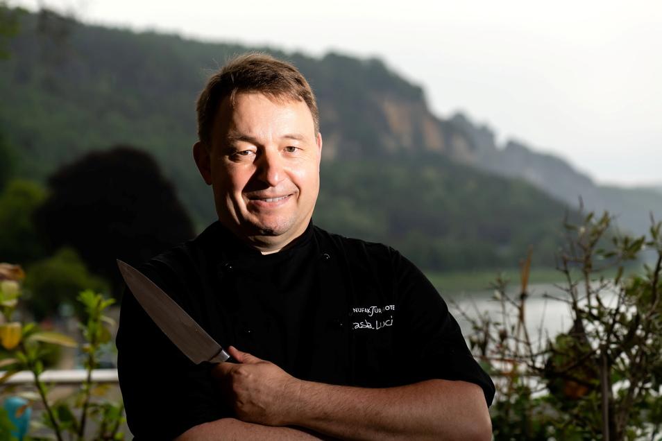 Thorsten Bubolz hat in Spitzenzeiten für 1.800 Gäste von Volkswagen gekocht, jetzt zieht es ihn kulinarisch ins beschauliche Wehlen.