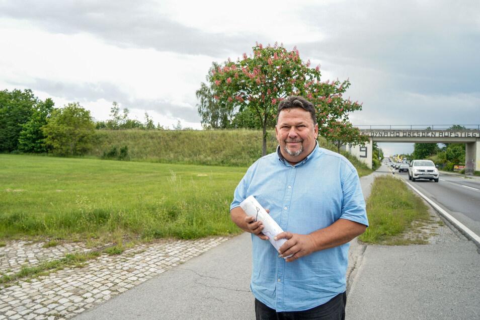 In Oberkaina könnte bald die Südumfahrung ankommen. Klaus Zschieppang fragt sich, ob die geplante Straße wirklich notwendig ist.