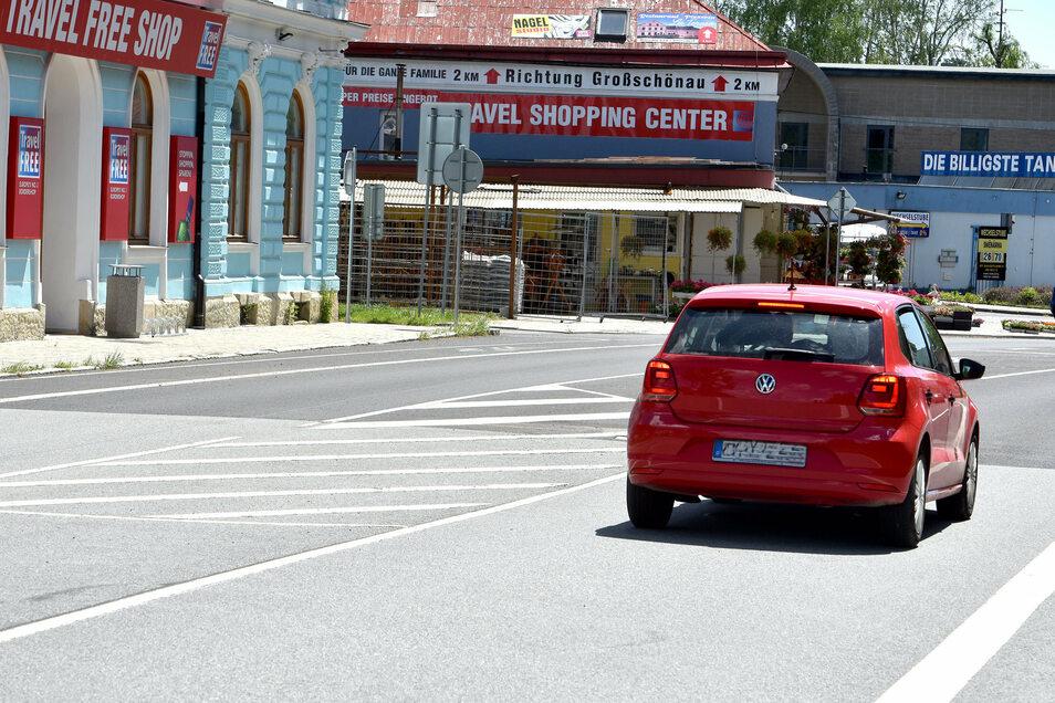 Auch in Seifhennersdorf ist wieder ungehinderter Grenzverkehr zum Einkaufen in Tschechien möglich.