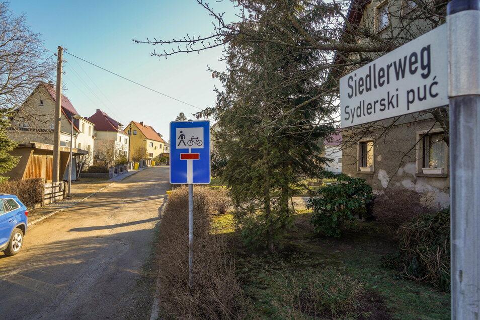 Im Bautzner Ortsteil Oberkaina sollen der Siedlerweg und die Straße der Jugend grundhaft ausgebaut werden.