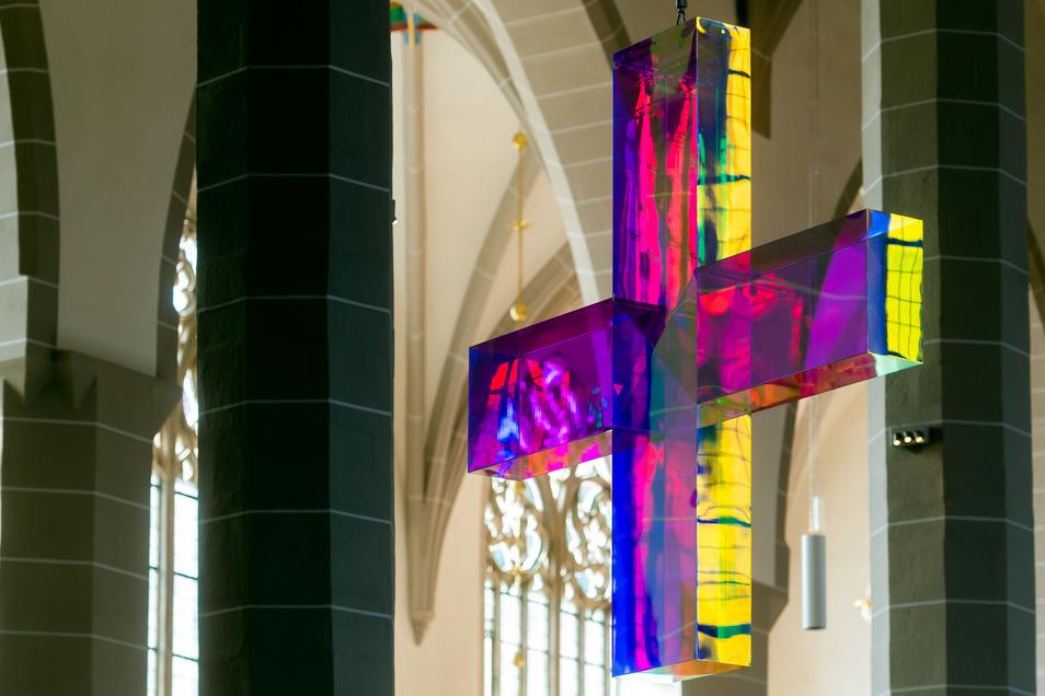 Das Lichtkreuz im Dom.