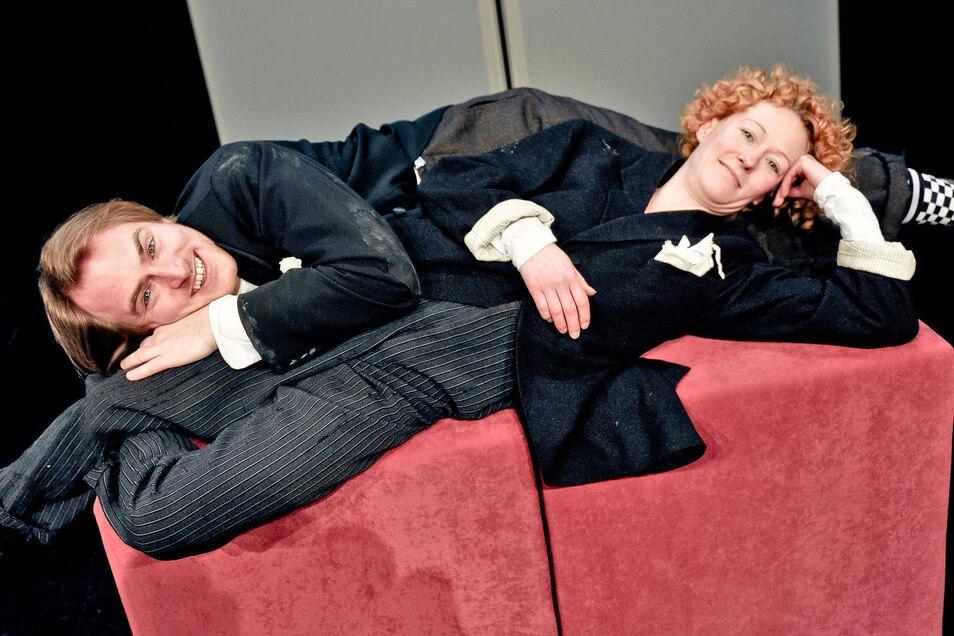 Nancy Spiller und Alexander Pluquett sind die ideale Besetzung für die bösen Nummern. © Herkuleskeule