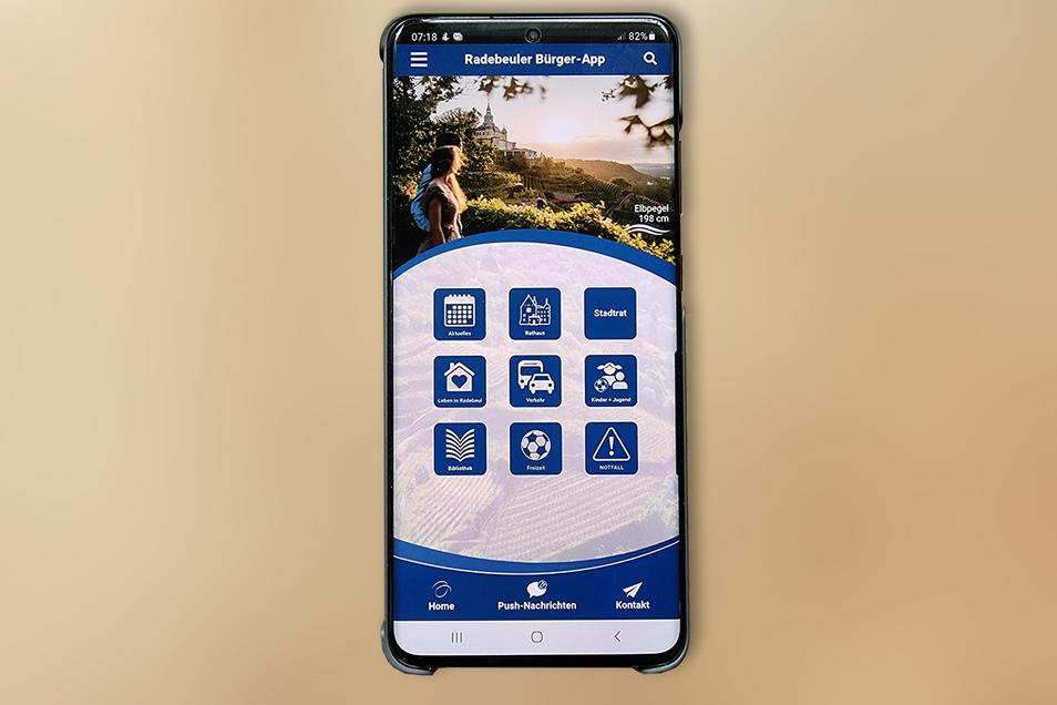Am besten ist die neue Radebeuler Bürger-App auf dem Handy anzuschauen und zu handhaben.