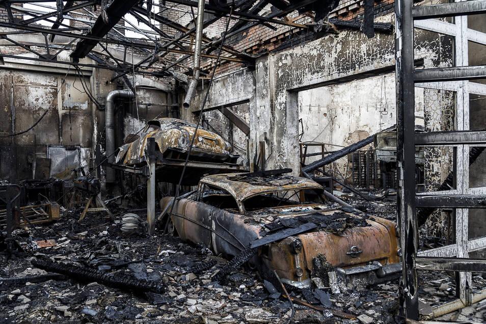 Was nicht rechtzeitig in Sicherheit gebracht werden konnte, wurde ein Opfer der Flammen beim Großbrand in Görlitz.