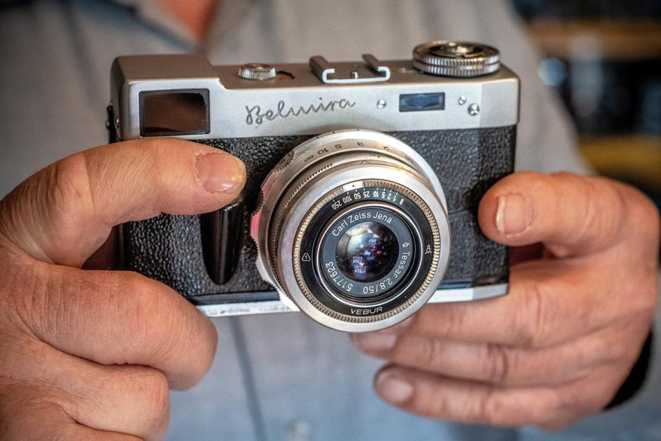 Mit dieser Kamera Belmira hat alles angefangen. Alfred Kruggel hatte sie 1958 bekommen und damit auch fotografiert.