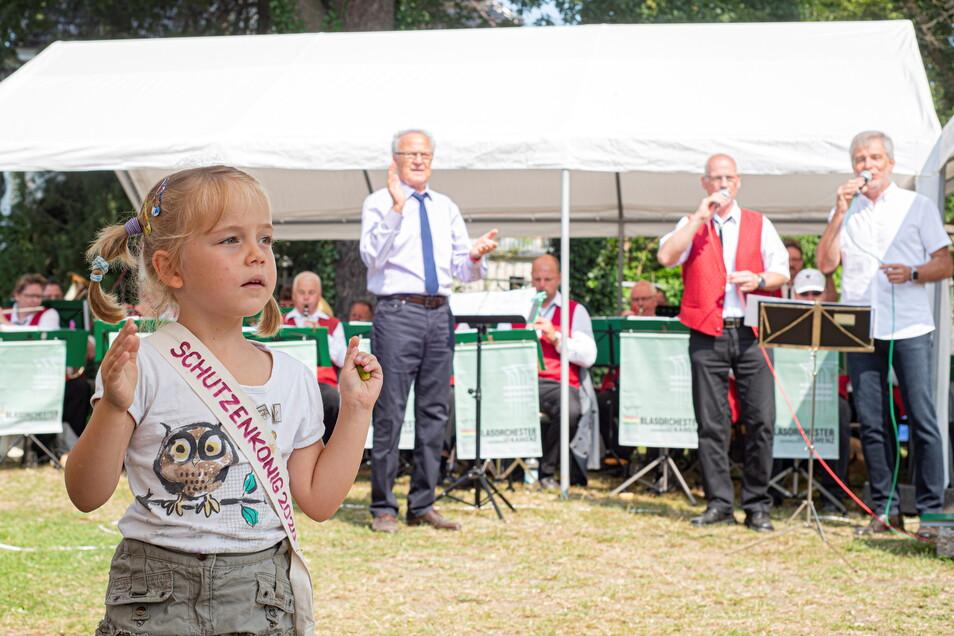 Der Frühschoppen bei Tomogara mit dem Blasorchester der Lessingstadt Kamenz ist Kult. Foto: Rene Plaul