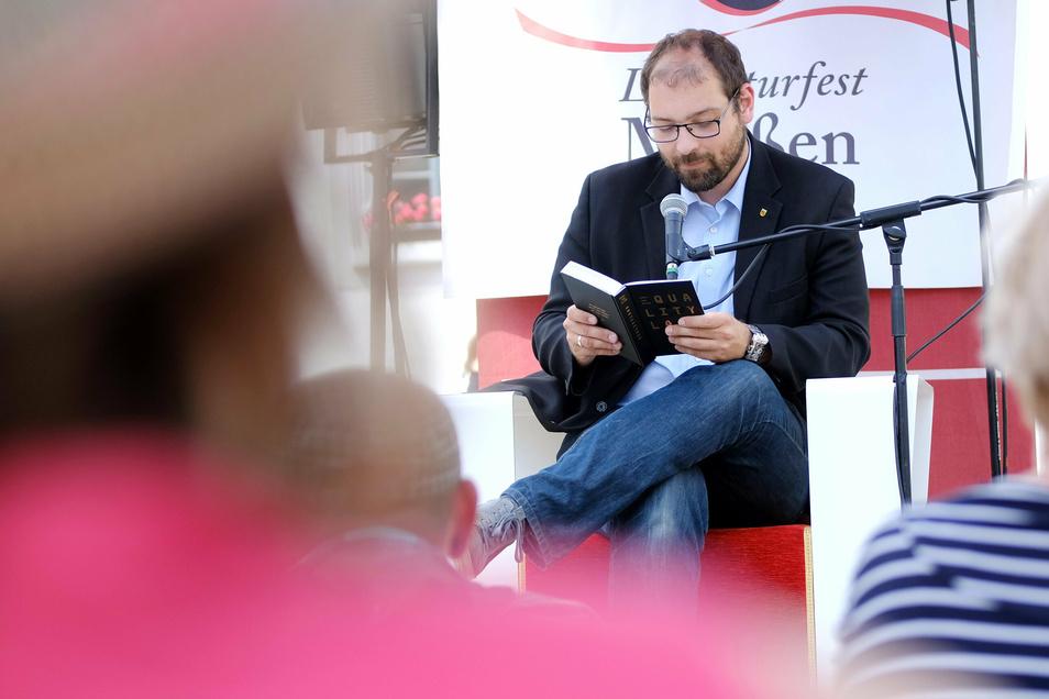In diesem Jahr auf eigener Bühne: Der Meißner Stadt- und Kreisrat Martin Bahrmann wird beim Literaturfest an diesem Wochenende wieder vorlesen.
