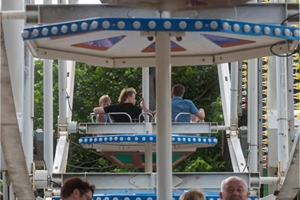 35 Meter hoch war das Riesenrad, mit dem die Festgäste einen Blick über die Dächer von Dippoldiswalde werfen konnten.