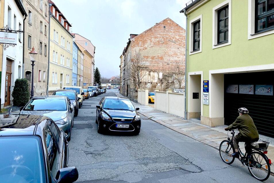 Die Böhmische Straße in Zittau.
