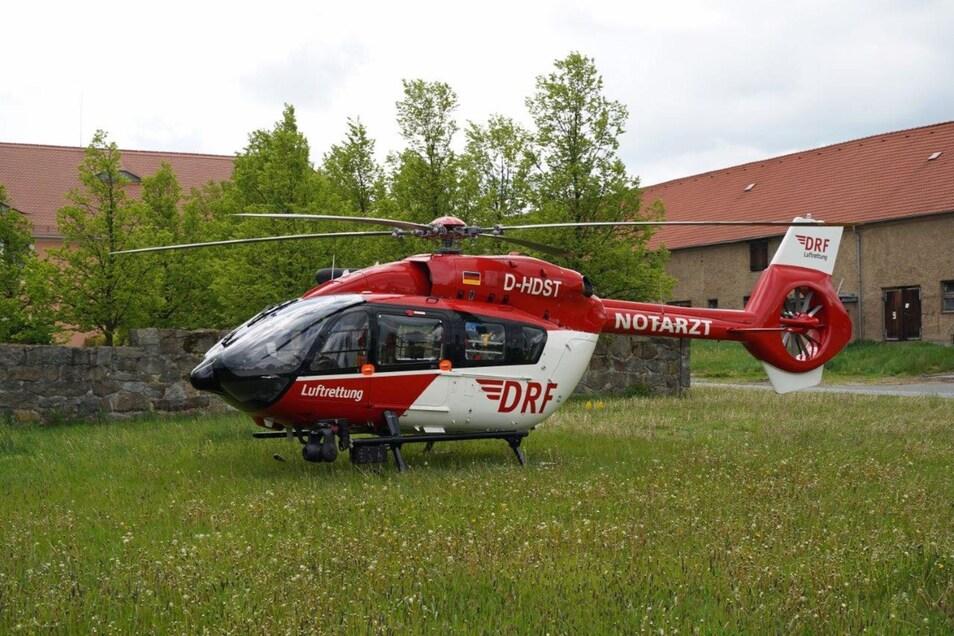 Auch ein Rettungshubschrauber war in Dürrhennersdorf im Einsatz.