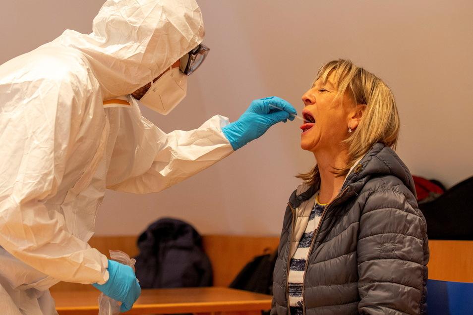 Corona-Testaktion in Bad Schandau: Am Freitag
