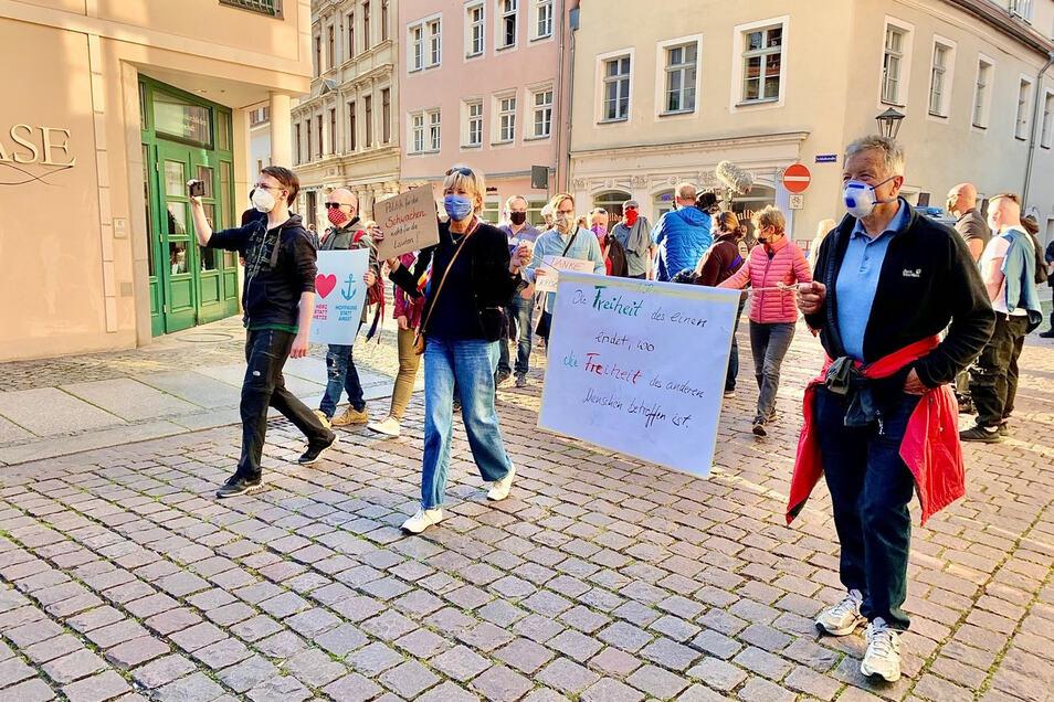 """Corona-Demo am Mittwochabend in Pirna: """"Die Freiheit des einen endet, wo die Freiheit des anderen Menschen betroffen ist."""""""