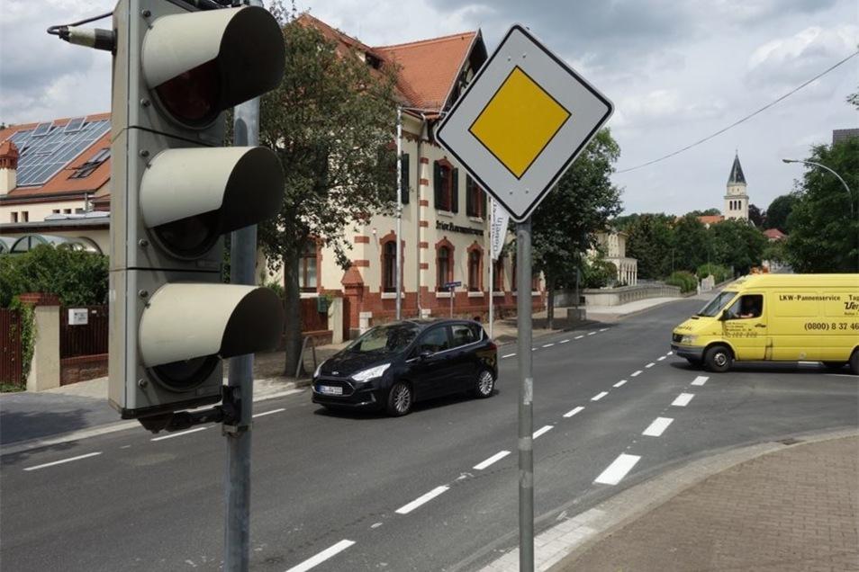 Die Ampel Ritterstraße/Rosa-Luxemburg-Straße steht schon bereit.