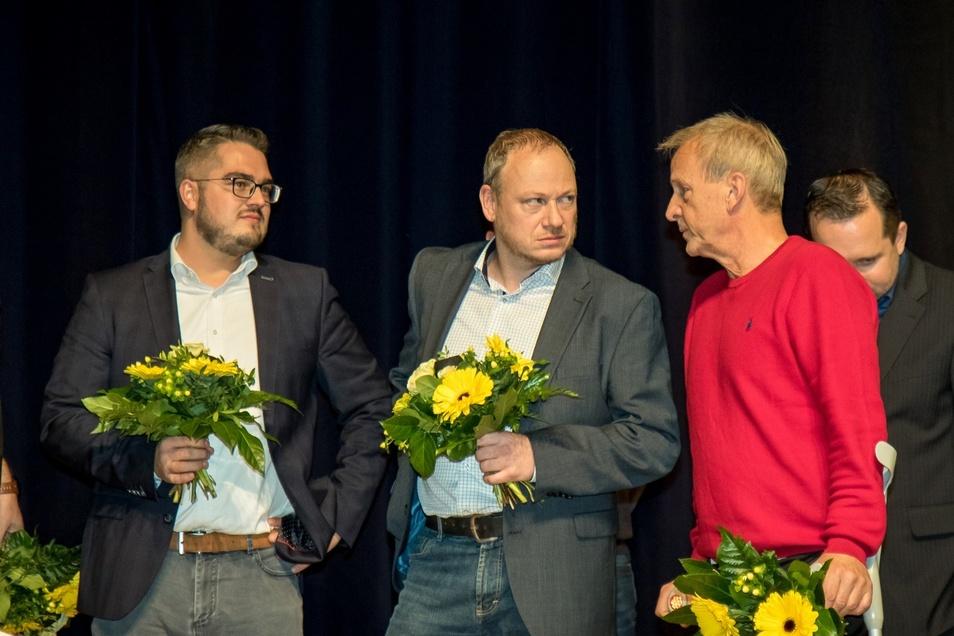 Im November 2019 auf der Mitgliederversammlung wiedergewählt: die Aufsichtsräte Michael Ziegenbalg, Thomas Kunert und Jens Heinig (von links).