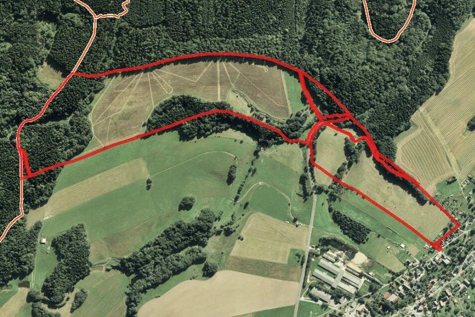Landwirtschaftliche Flächen in Hohnstein OT Ulbersdorf / Mindestgebot 195.000 Euro