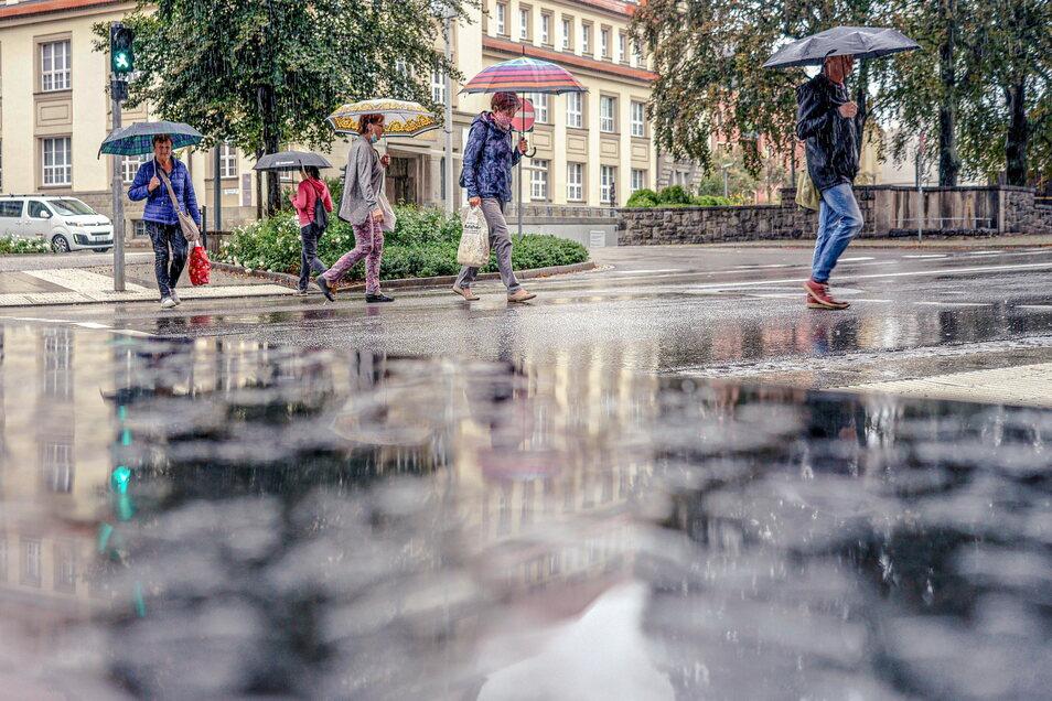 Die nächsten Tage bleibt es in Bautzen regnerisch. Generell war das Jahr 2021 hier bisher feuchter als üblich.