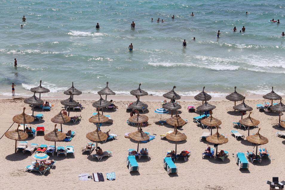 Der Strand von Palma in Mallorca: Wie voll wird er dieses Jahr werden können?