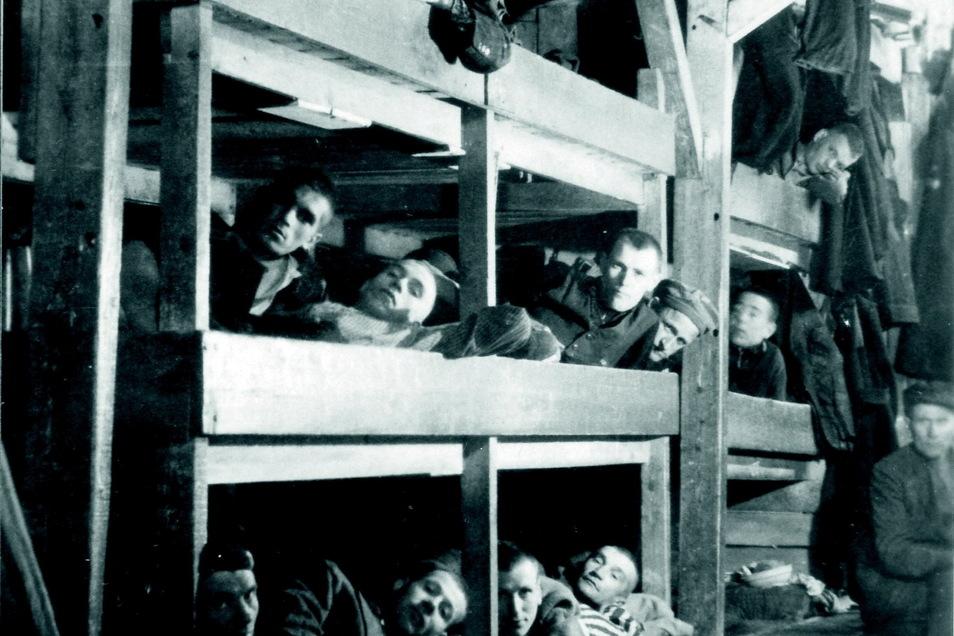 Bis zu 1.600 Menschen wurden in die Holzbaracken gepfercht.