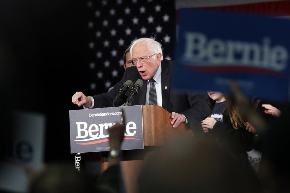 In Umfragen lag Bernie Sanders zuletzt vorn.
