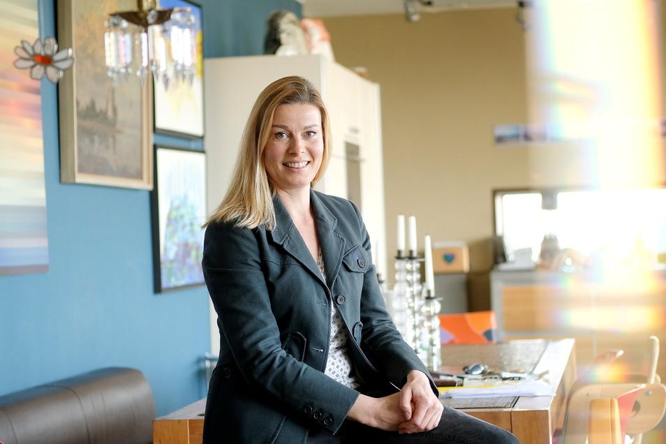 """Kathrin Dobiéy ist das Gesicht der erfolgreichen Bewerbung des Raußlitzer Vereins Landgestalten um die Fördergelder aus dem Programm """"Neulandgewinner""""."""