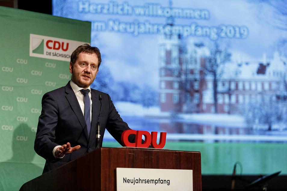 Auch Sachsens Ministerpräsident Michael Kretschmer – hier beim Neujahrsempfang des CDU-Kreisverbandes 2019 – stammt aus Görlitz.