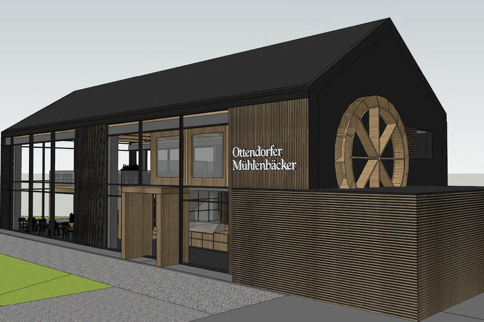 Der Ottendorfer Mühlenbäcker beginnt diese Woche mit dem Bau eines neuen Cafés. In einem Jahr soll es fertig sein.