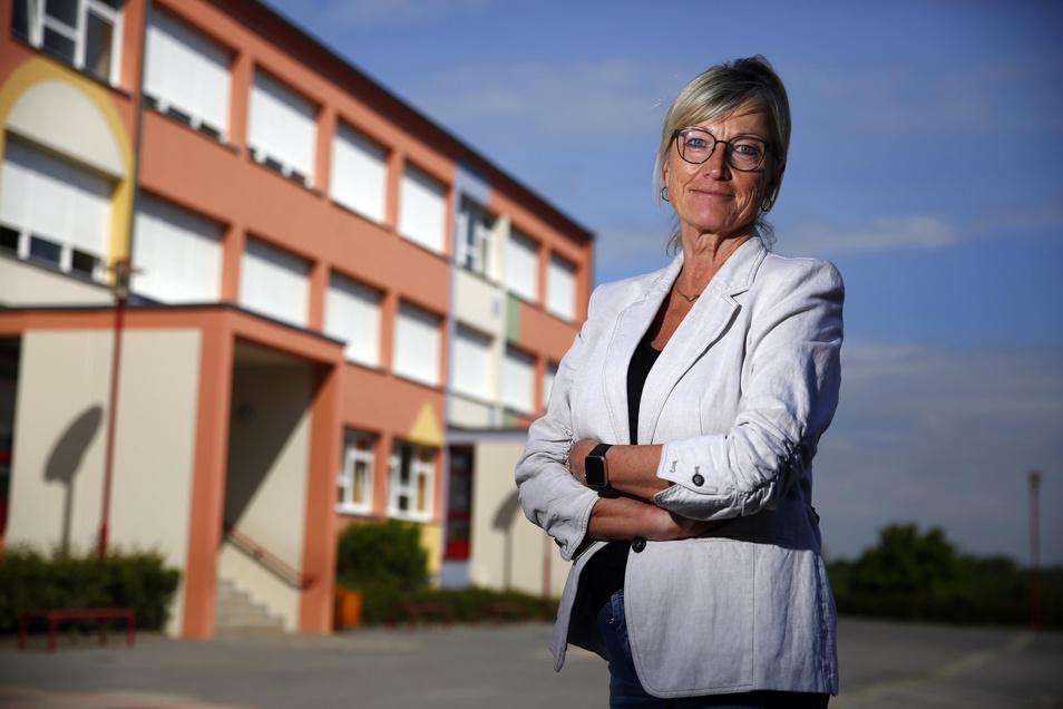 Gabriele Keltsch will, dass die Schüler an ihrer Grundschule in Kamenz trotz aller Einschränkungen Kinder sein dürfen.