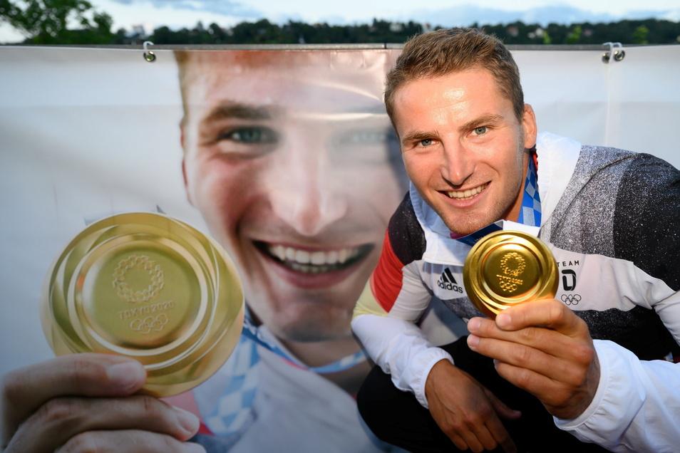 Zwei Mal Tom Liebscher, zwei Mal mit Olympiagold. Der 28-Jährige plant noch bis Paris, hat aber schon potenzielle Erben in der eigenen Trainingsgruppe.