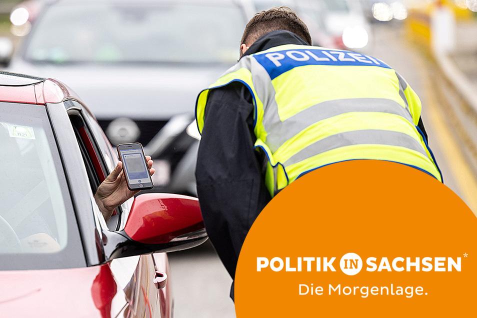 Wegen der neuen Corona-Einreiseregeln gibt es auch in Sachsen stichprobenartige Kontrollen an der Grenze.