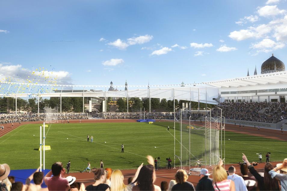 Im umgebauten Stadion könnten auch die Deutschen Leichtathletikmeisterschaften stattfinden.