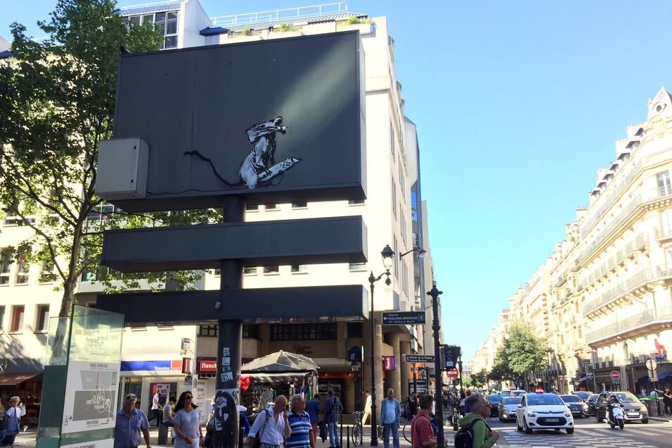 Das Schablonengraffiti des Streetart-Künstlers Banksy wurde gestohlen.