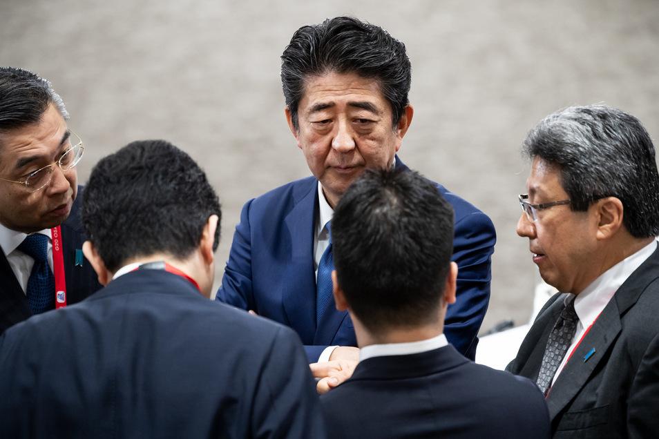 Japans Ministerpräsident Shinzo Abe am Rande des G20-Gipfels Ende Juni.