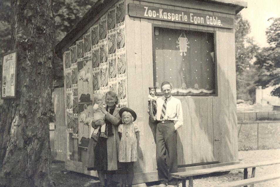 Egon Gäble begründete die Tradition des Zoo-Kaspers in Dresden. Das Foto zeigt ihn im Jahr 1946.