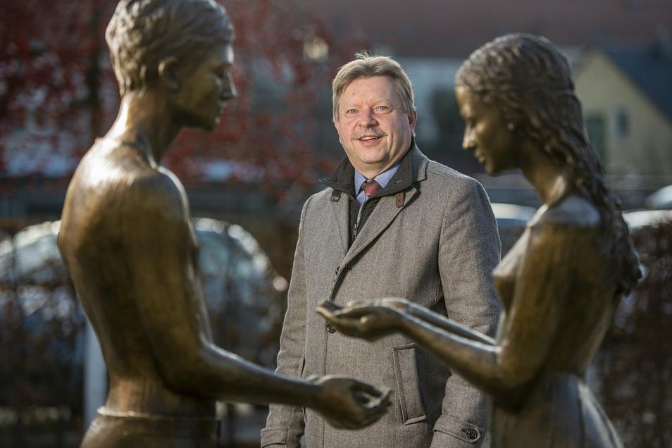 Seit 2001 lenkt Bert Wendsche als Oberbürgermeister die Geschicke der Stadt Radebeul.